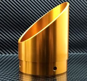 Gold colored exhaust tip
